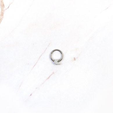Piercing arrow silver - Jewels by Moon