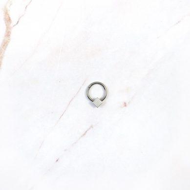 Piercing diamond silver - Jewels by Moon