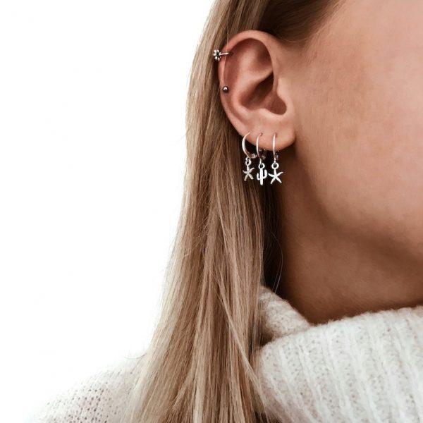 Piercing flower silver - Jewels by Moon
