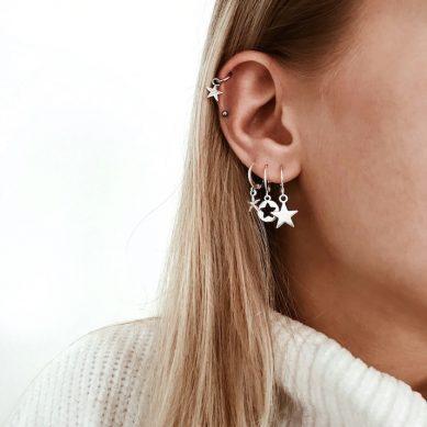 Earring star silver - Jewels by Moon