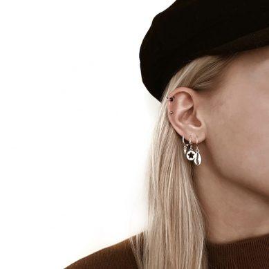 Earring shell silver - Jewels by Moon
