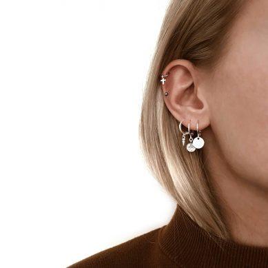 Piercing cross silver - Jewels by Moon