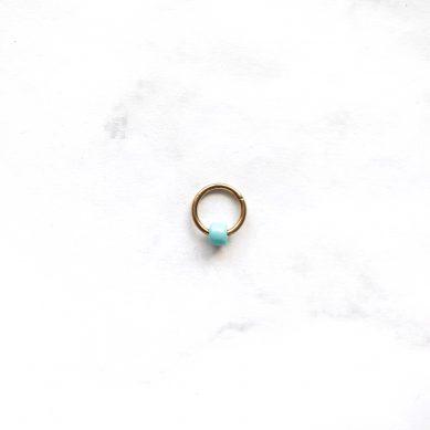 Piercing gold light blue bead Jewels by Moon