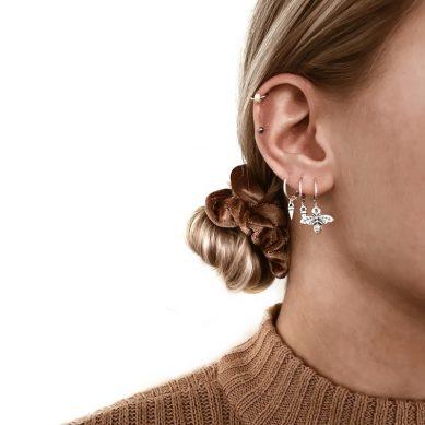 Piercing creamy bead silver - Jewels by Moon