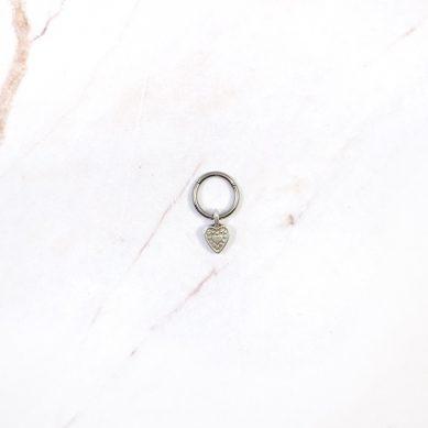 Piercing heart silver - Jewels by Moon