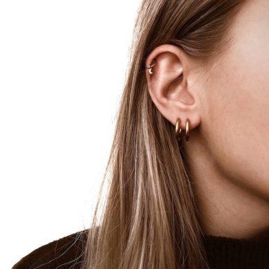 Earrings hoop gold - Jewels by Moon