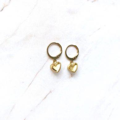 Earring heart gold - Jewels by Moon