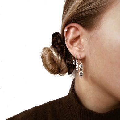 Earring boho long silver - Jewels by Moon