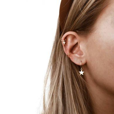 Ear Cuff cross gold - Jewels by Moon