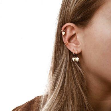 Ear Cuff heart gold - Jewels by Moon
