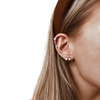 Earring hoop special silver - Jewels by Moon