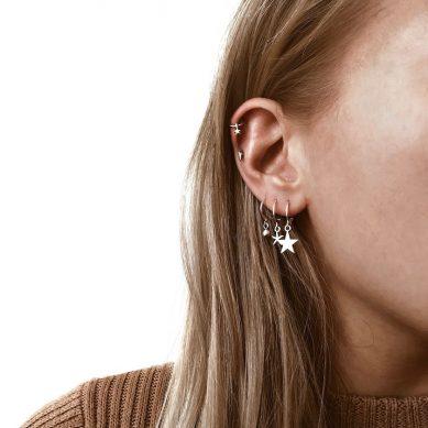 Piercing little star silver - Jewels by Moon