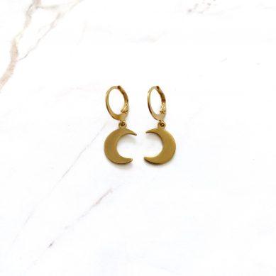 Earring moon gold - Jewels by Moon