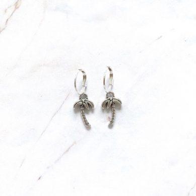 Earring palm tree silver - Jewels by Moon