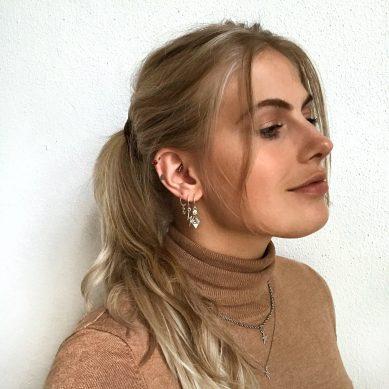 Earring boho snake silver - Jewels by Moon