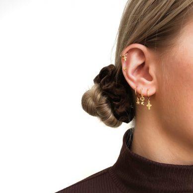 Piercing cross gold - Jewels by Moon