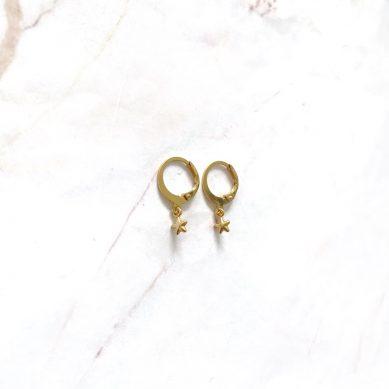 Earring little star gold - Jewels by Moon