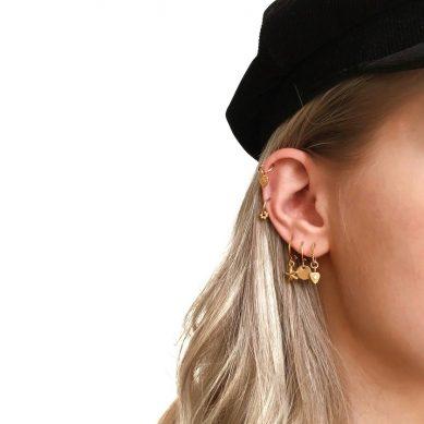 Piercing flower gold - Jewels by Moon