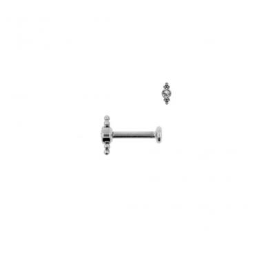 Piercing Swarovski crystal barbell silver - Jewels by Moon