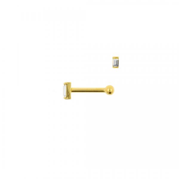 Piercing Zirconia bar gold - Jewels by Moon