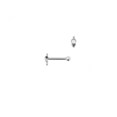 Piercing opal drop barbell silver - Jewels by Moon